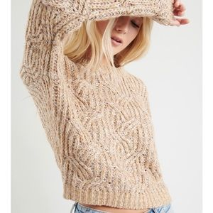 The LEAH sweater GARAGE neutral beige knit chunky